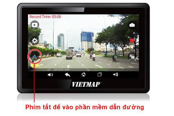 giao diện ghi hình của vietmap w810