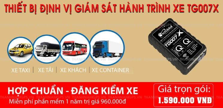 thiết bị định vị xe tải đạt chuẩn BGTVT TG007X