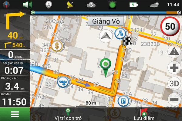 bản đồ dẫn đường thông minh Navitel của webvision n93 plus
