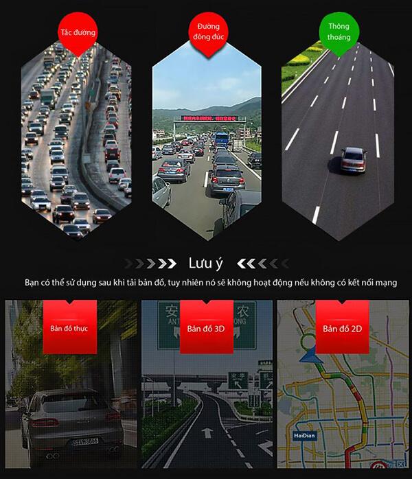 cam hành trình xe webvision n93 plus sẽ cung cấp cho bạn một lộ trình di chuyển thông minh