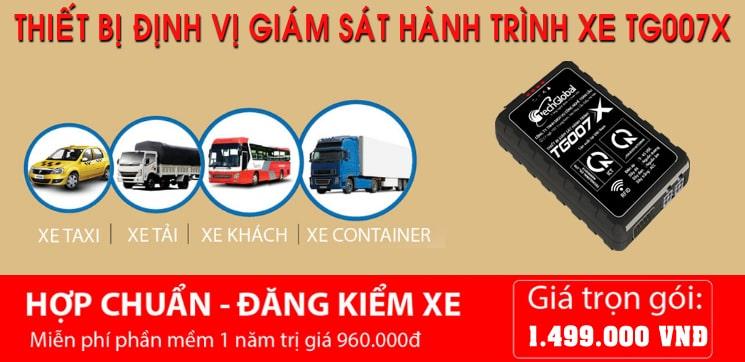 thiết bị định vị xe tải đạt chuẩn của Bộ Giao thông Vận tải TG007X