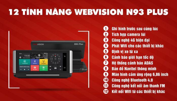 top tính năng tiện ích của thiết bị dẫn đường webvision n93 plus