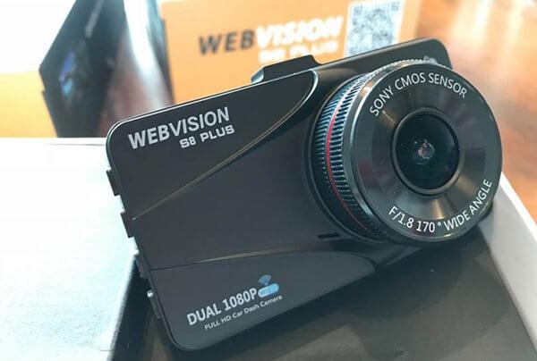 camera hành trình phiên bản nâng cấp đỉnh cao webvision s8 plus