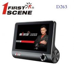 Camera hành trình đặt taplo ghi hình 3 mắt Firstscene D263