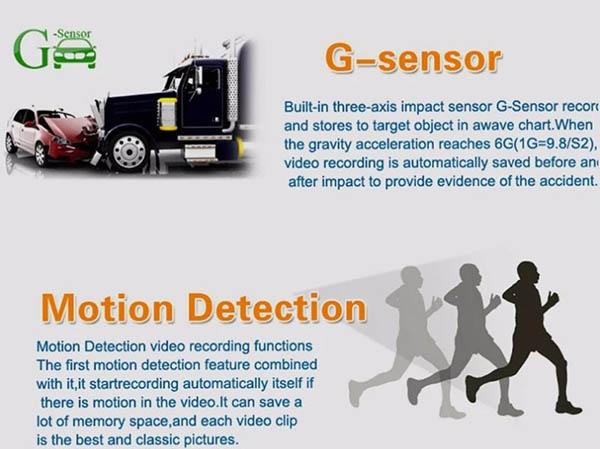 cảm biến G-SENSOR được trang bị trên Firstscene D263