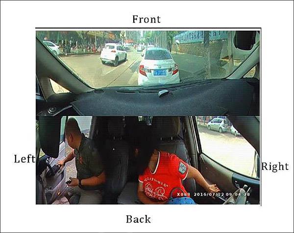 camera hành trình Firstscene X66 ghi hình 2 mắt trước sau