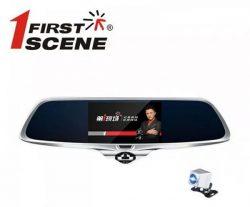 Camera hành trình gương 360 độ Firstscene X66 kiêm cam lùi