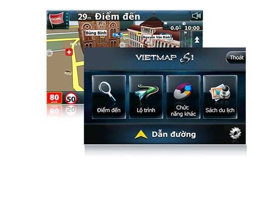Phần mềm dẫn đường thông minh Vietmap S1 trên thiết bị S1