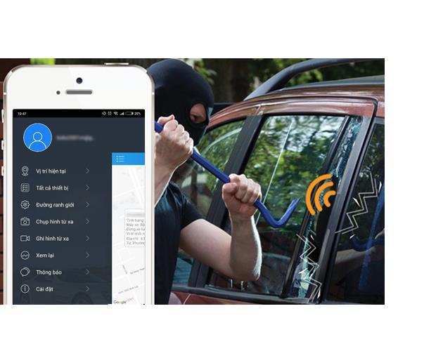 vm100 còn có tính năng cảnh báo - chống trộm thông minh