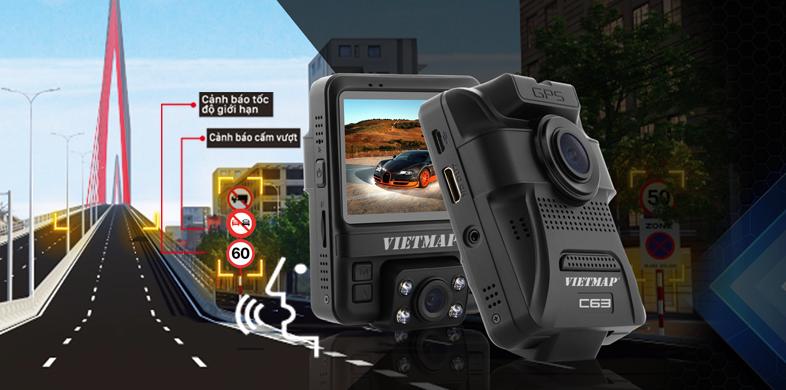 vietmap c63 còn được trang bị hệ thống cảnh báo thông tin giao thông đầy hữu ích.