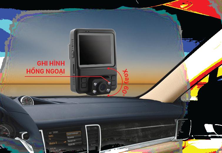 khả năng ghi hình hồng ngoại của camera hành trình vietmap c63