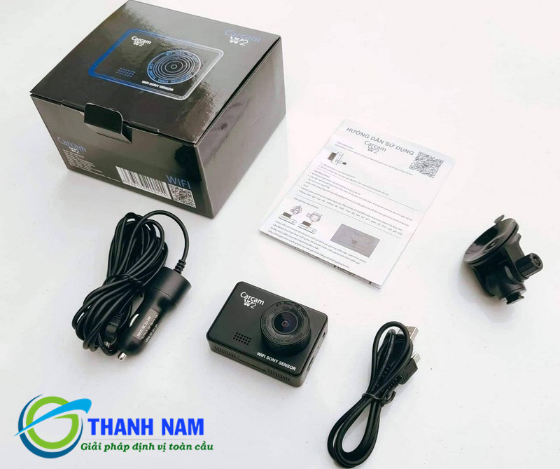 bộ sản phẩm camera hành trình carcam w2 tại Thành Nam GPS