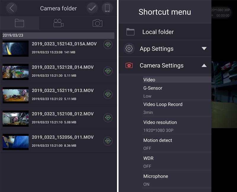 camera hành trình carcam có tích hợp wifi sony sensor