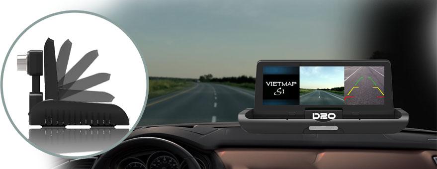 chiếc cam hành trình mới này có thiết kế màn hình tablo tự động gập