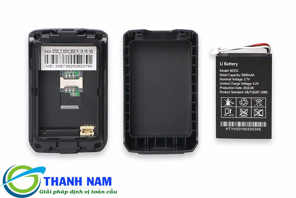 GT03C có dung lượng pin lên tới 5000 mAh