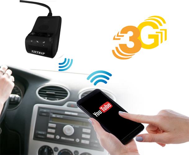 vietmap icam m200 có kết nối 3G, phát wifi mọi lúc mọi nơi