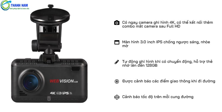 những lợi ích tuyệt vời của camera hành trình webvision a28