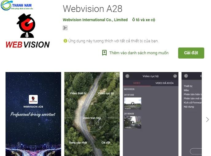 Quản lý phương tiện 24/7 nhờ ứng dụng Webvision A28