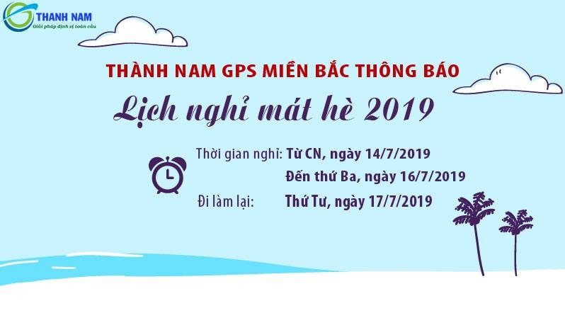 thông báo lịch nghỉ mát hè 2019 thành nam gps