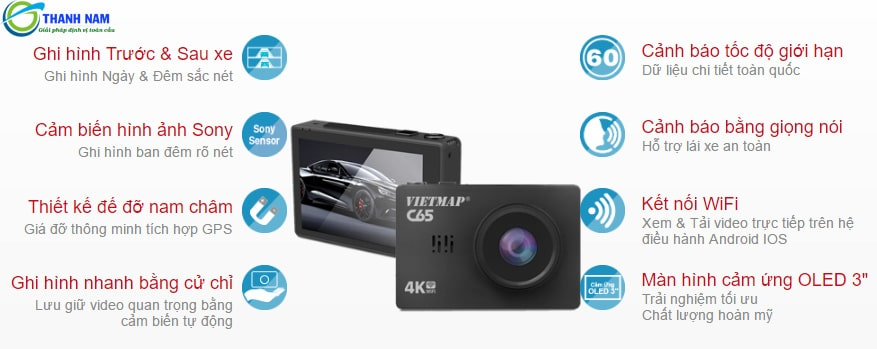 những tính năng ưu việt của camera hành trình vietmap c65