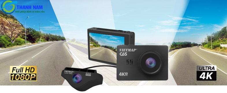 camera hành trình ô tô vietmap c65 ghi hình 4K