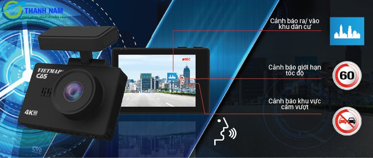 camera hành trình cảnh báo thông tin giao thông vietmap c65