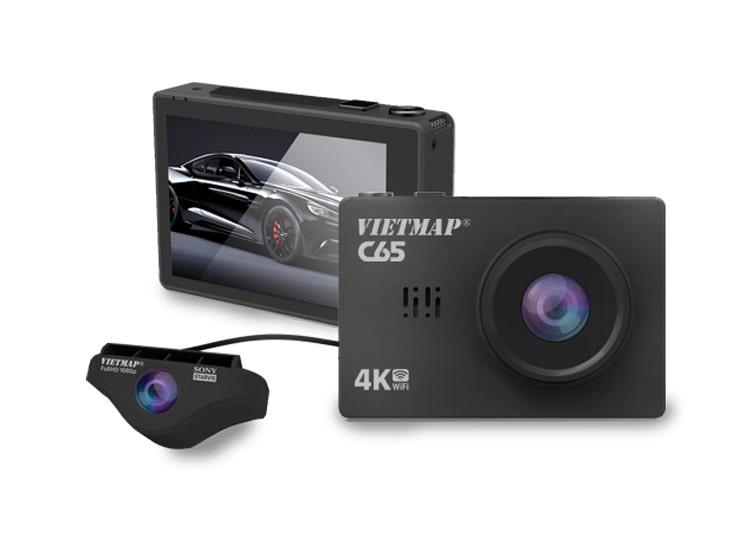 camera hành trình vietmap c65 ghi hình 4k, GPS, WIFI