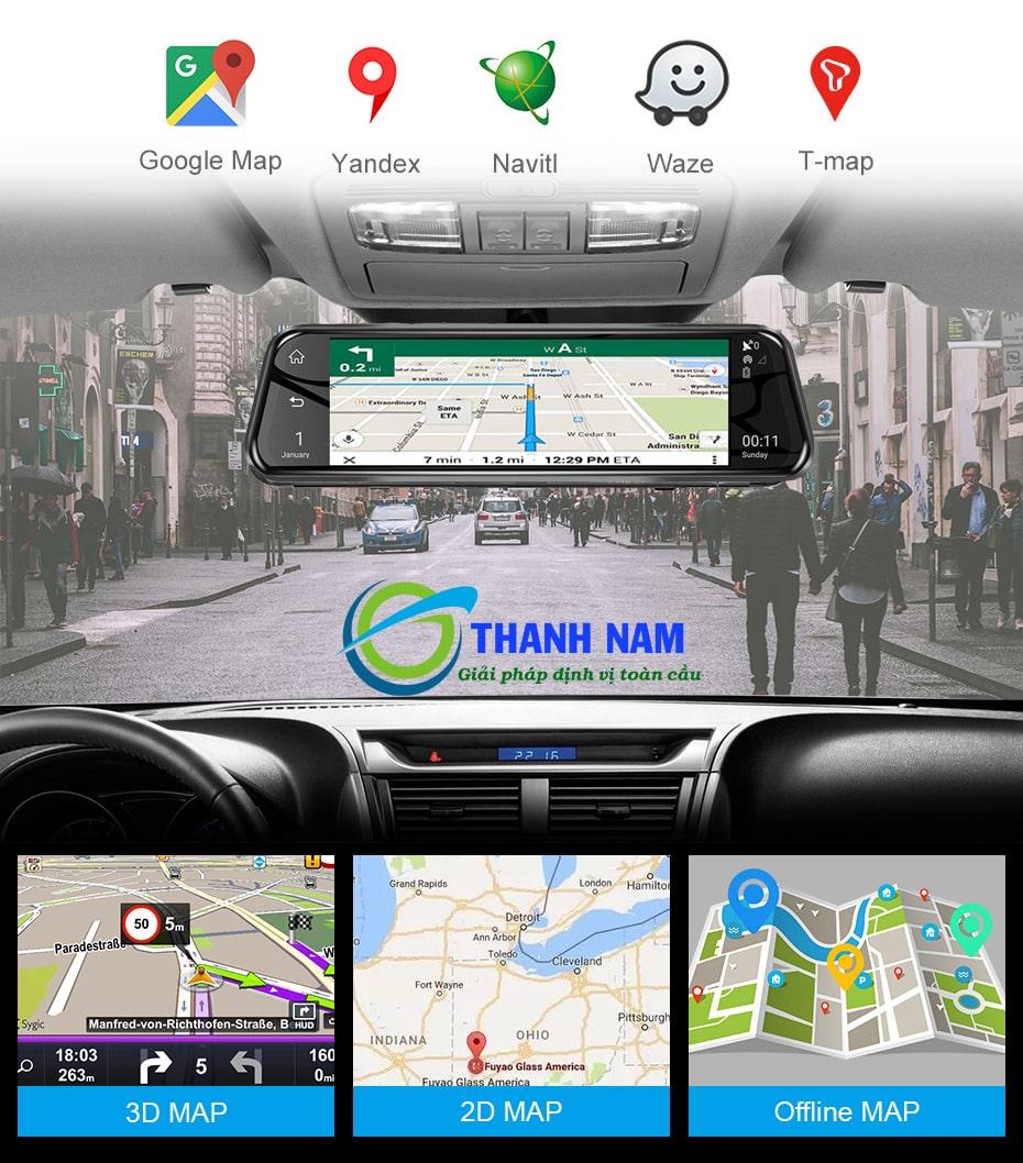 camera hành trình ô tô android a10 có khả năng chỉ dẫn đường thông minh