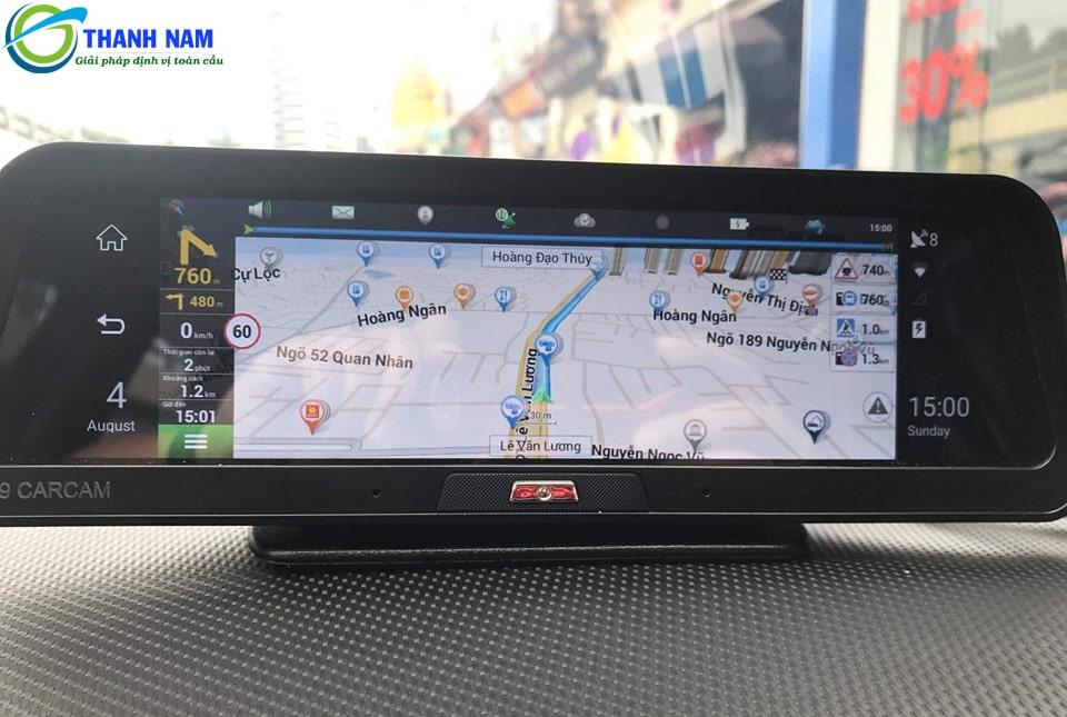 camera hành trình xe android a9 được trang bị phần mềm chỉ dẫn đường thông minh