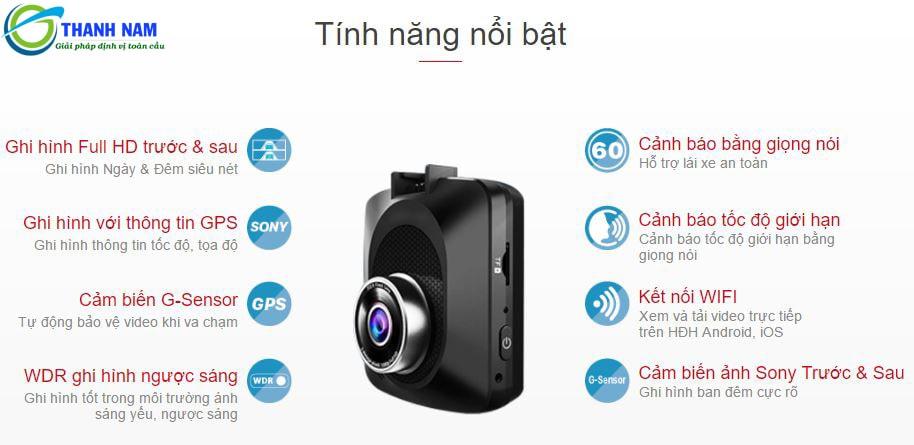 camera hành trình vietmap c62s là dòng camera hành trình đa tính năng