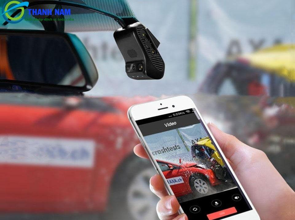 giám sát xe từ xa 24/24 khi lắp đặt camera ô tô JC200