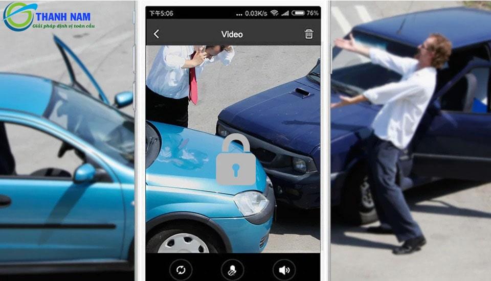 camera hành trình ô tô jc200 tích hợp cảm biến va chạm G-Sensor