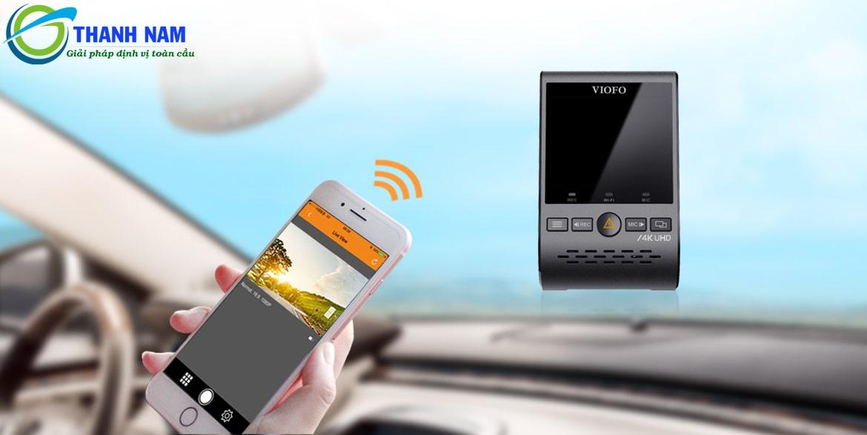 camera hành trình hỗ trợ kết nối WIFI, GPS