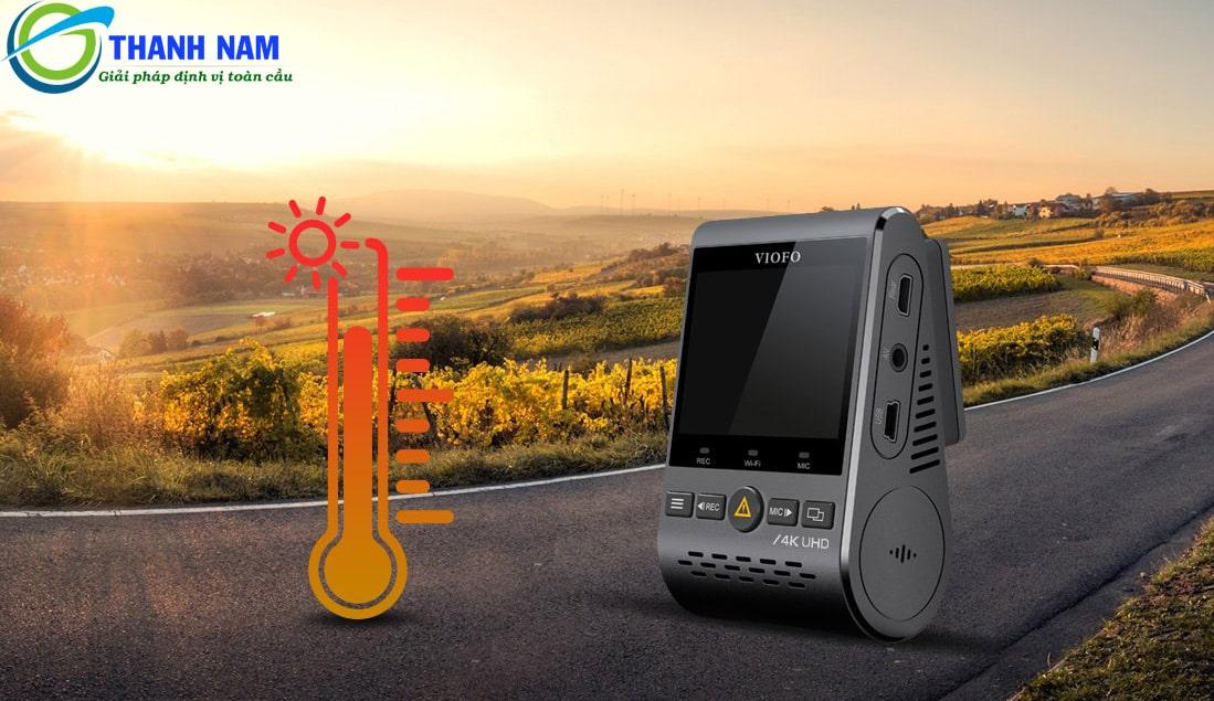 camera hành trình ô tô a129 pro có khả năng chịu nhiệt tốt