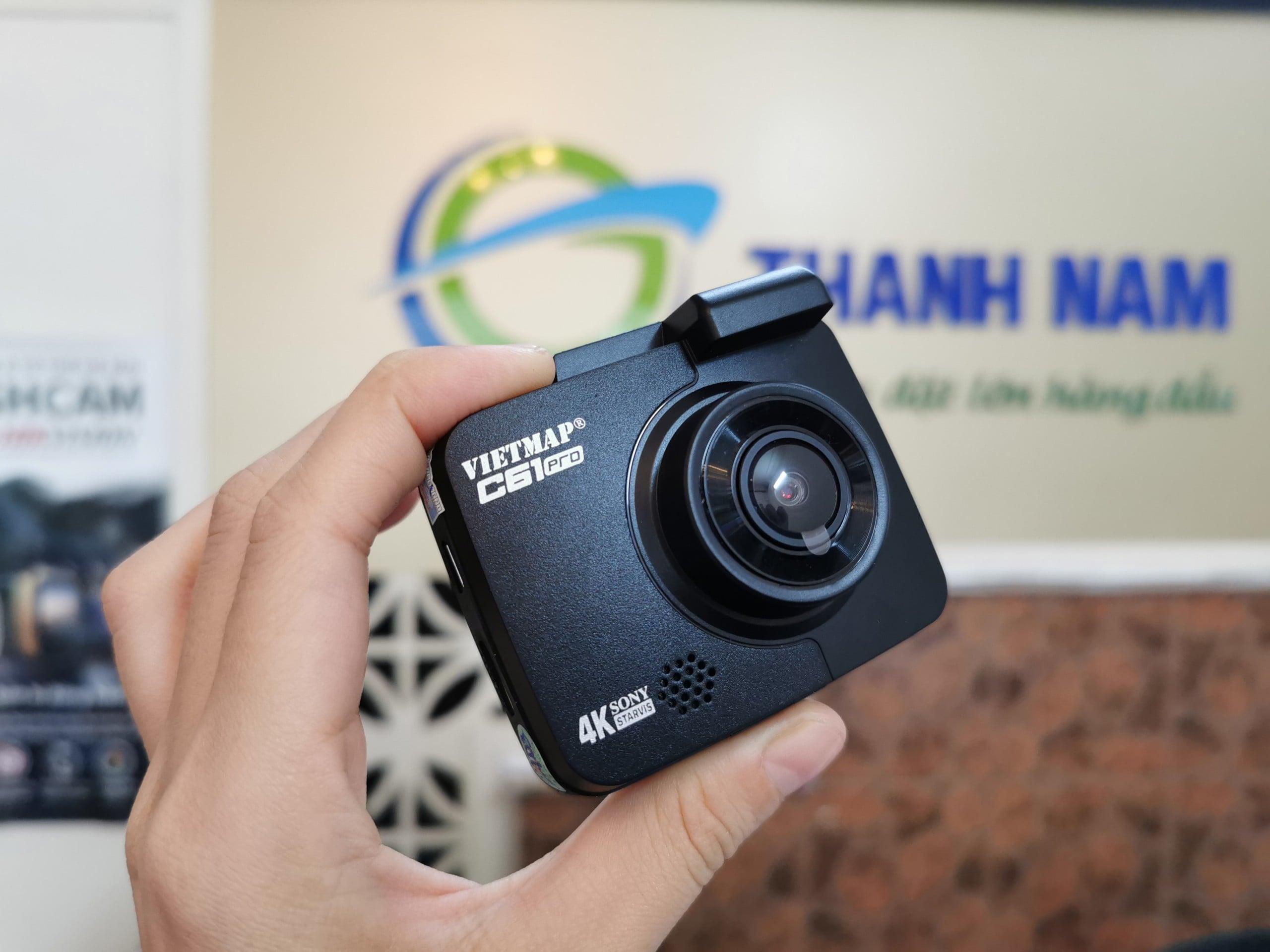 hình ảnh thực tế của camera hành trình vietmap c61 pro