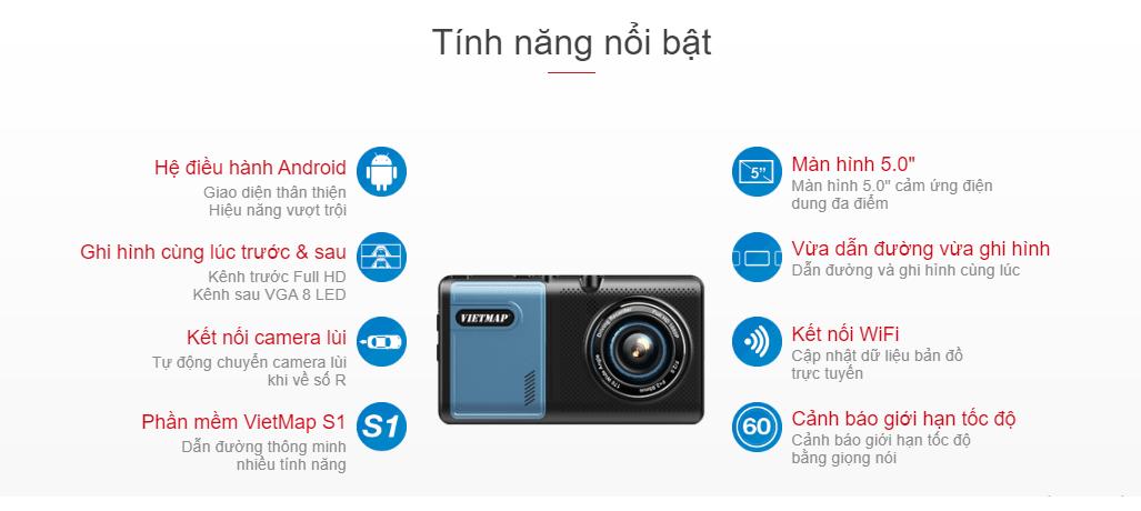 camera hành trình vietmap a50 chính hãng giá siêu tốt tại thành nam gps