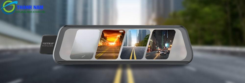 thiết kế hiện đại màn hình gương điện tử rộng 9.66 inch