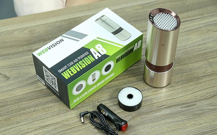 trọn bộ thiết bị lọc không khí trên ô tô webvision a8