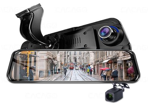camera hành trình cacago g07x màn hình gương 10 inch