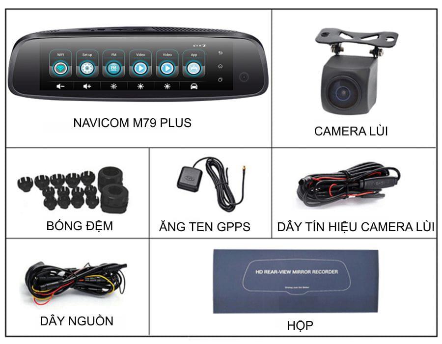 trọn bộ camera hành trình navicom m79 plus