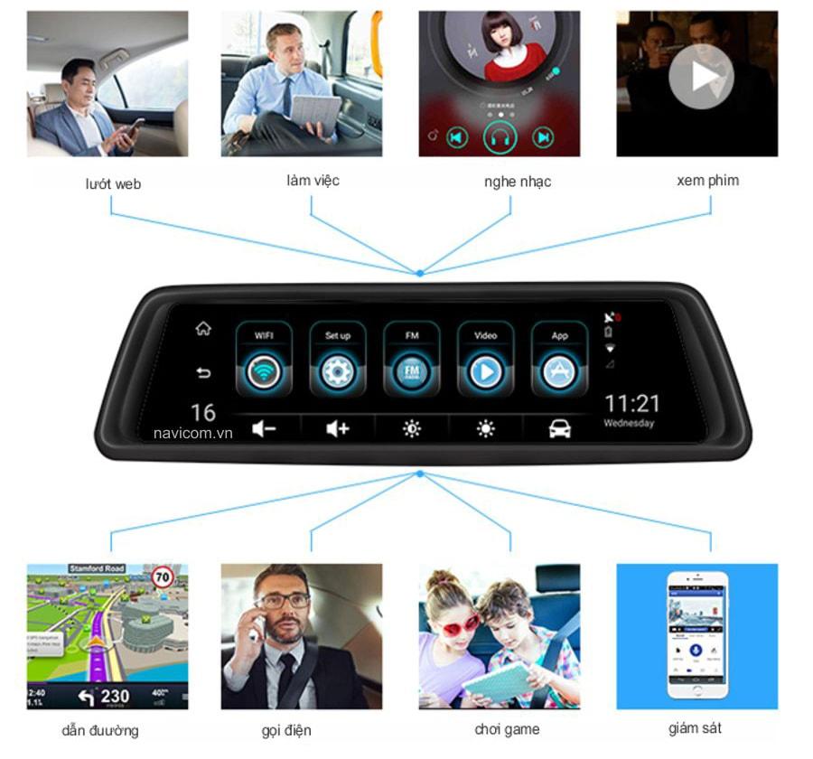 navicom v360 có khả năng kết nối 4G WIFI GPS