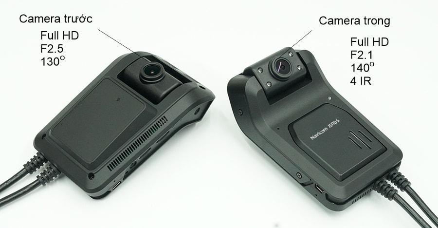 camera hành trình ghi hình trước và trong xe full hd