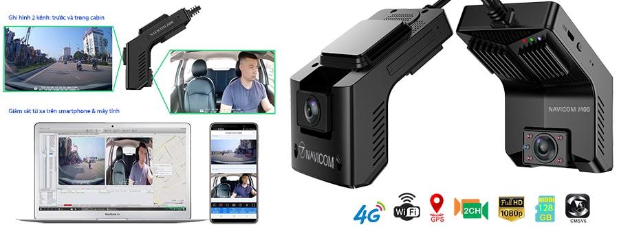camera hành trình kết nối wifi - 4g - hỗ trợ xem video từ xa, tải video từ xa
