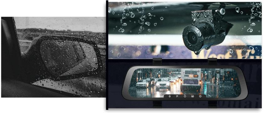 camera hành trình xe 70mai gương chiếu hậu ghi hình ổn định bất kể mưa gió
