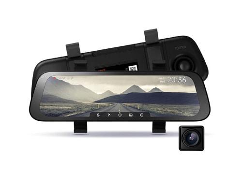camera hành trình kẹp gương 70mai rearview dash cam wide full viền 9.35 inch trước sau