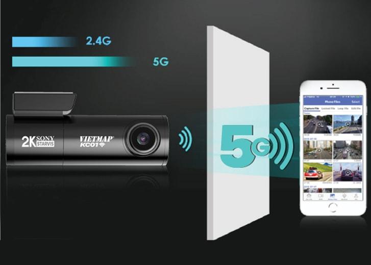 camera hành trình ô tô có kết nối wifi 5hz