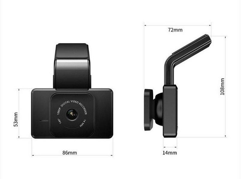 camera giám sát hành trình ô tô carcam k10 có thiết kế hiện đại - kích thước nhỏ gọn
