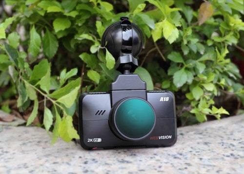 camera hành trình webvision a18 ghi hình độ phân giải 2k, tích hợp Ai