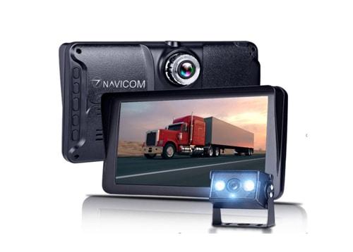 camera hành trình xe tải navicom gt7 2 mắt trước sau kiem camera lui
