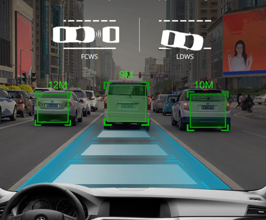 thiết bị cảnh báo lái xe an toàn bằng ADAS
